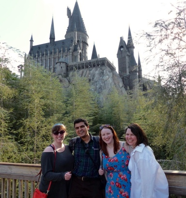 7- The contingent reaches Hogwarts!