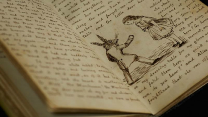 Drawings of Alice from Lewis Carroll's 91-page handwritten manuscript of Alice's Adventures Under Ground