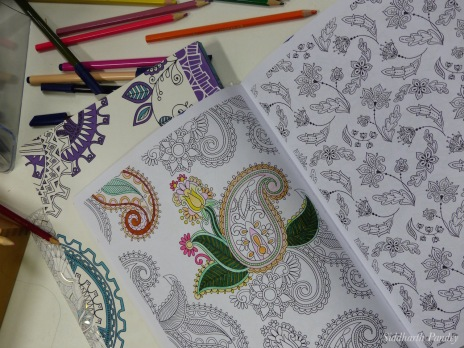 1- Colouring pages in the making