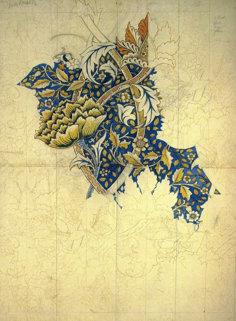 2- An unfinished William Morris pattern (Google   Images)