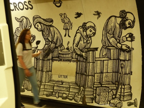 9- The mural at Charing Cross, London