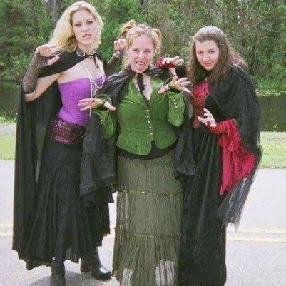 Two of my best friends and me in high school, being the Hocus Pocus witches. Also, I apologize for the grainy quality of this photo, but it was taken with an actual camera 'back in the day.'