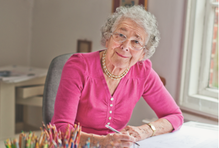 Judith Kerr is remarkable and continues to work at the age of 93. (Kerr Kneale Productions Ltd.)