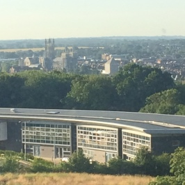 View over Canterbury from the campus